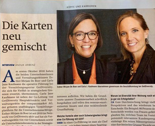 Zeitungsartikel von Esther-Mirjam de Boer